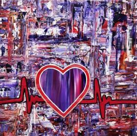 Simon Slater Art Original Abstract Painting Love