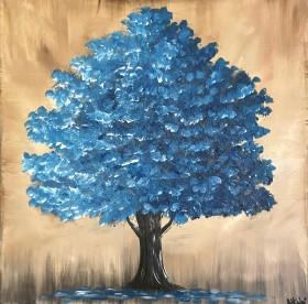 Majestic Teal Blue Tree 2