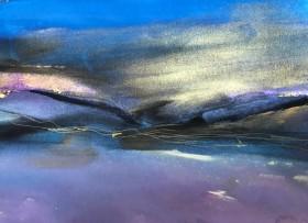 abstract  landscape  seascape  gold purple