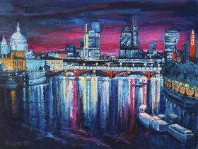Cityscape from St Paul's to the Oxo Tower