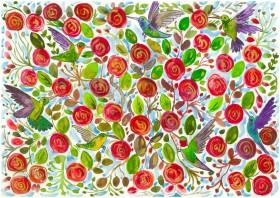 Hummingbirds in the Rose Garden