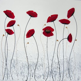 Pure Red Poppies