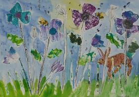 Blue poppies