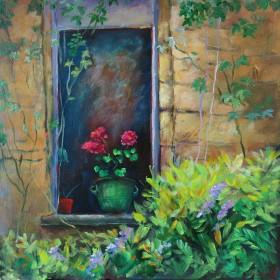 Geraniums in a Window