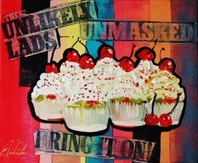 Cupcakes with Cherry Tops POP-ART 0501