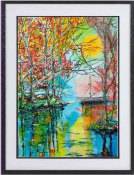 Autumn Mooring framed