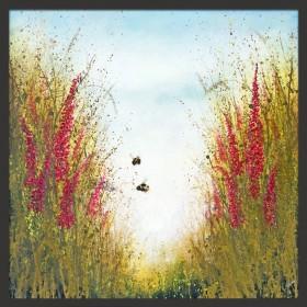 Summer Bees Floral Framed