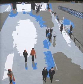 Turbine Hall - Tate Modern. Oainting on canvas board