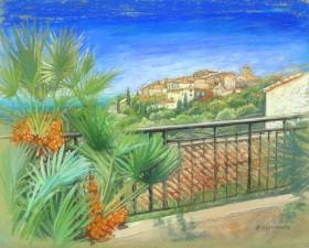 South of France Village on hilltop