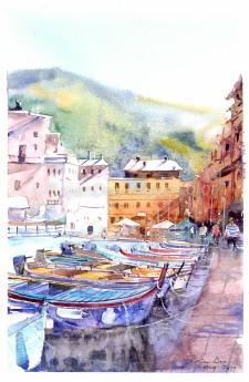 Original watercolor venice