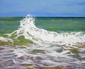 Waves Colliding on the Ceredigion coast