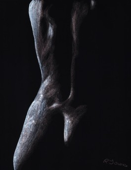 Fine art female sensual nude figurative pastel