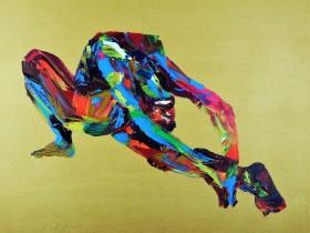 Yoga Pose Nude Woman Thunderbolt 873