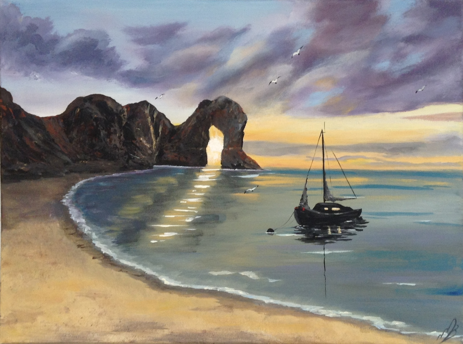 & Morning Light over Durdle Door by Marja Brown