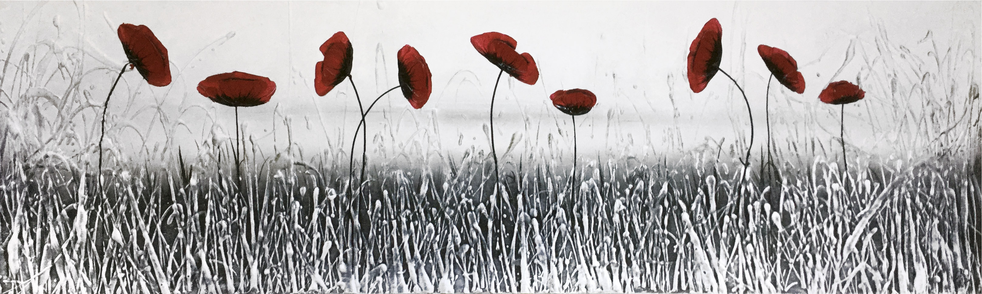 Iced Poppies By Ck Wood