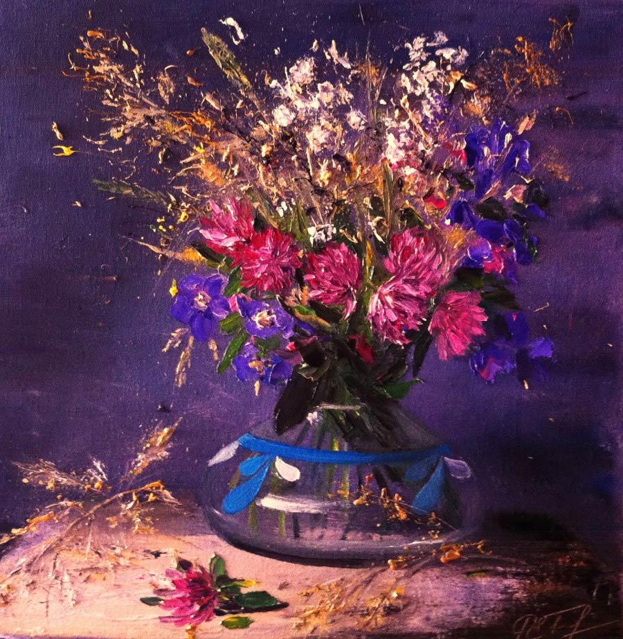 Field of Flowers in vase by Alena Rumak