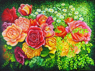 Roses - A Bouquet of Flowers