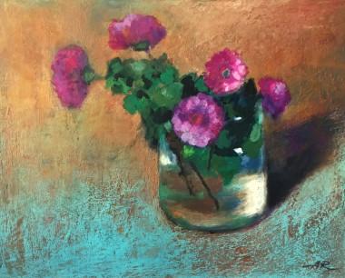 floral, flowers, paintings