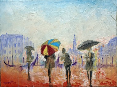 Summer Rain in Venice