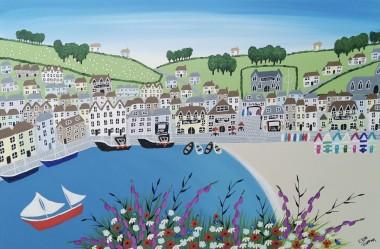 Contemporary summer beach painting