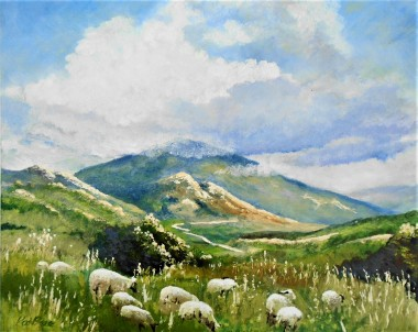 Cyprus, sunshine, mountains, affordable art, sheep,