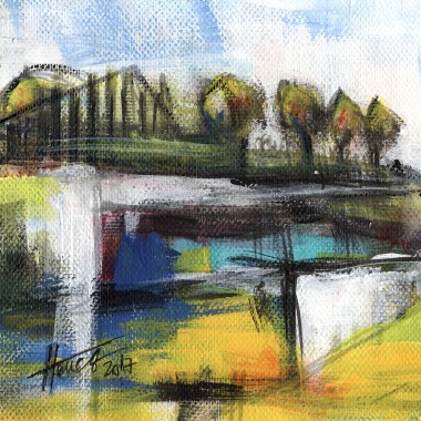 Memories From The Park acrylic painting