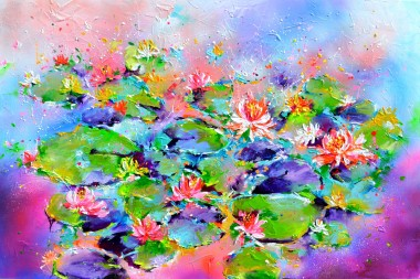 Water Lilies on the Pond 1