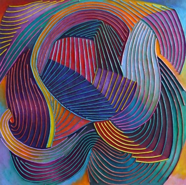Abstract Of Flowing Lines