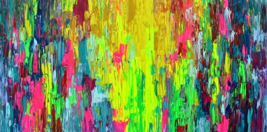 Heavy textured abstract painting, unframed full image