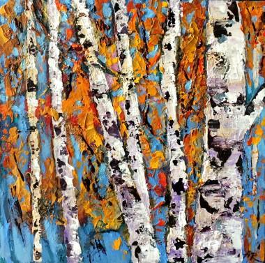 landscape,trees,birches