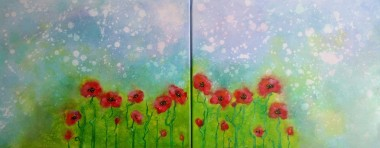 Poppies welcome a New  Day DUO