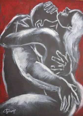 passionate lovers man and woman
