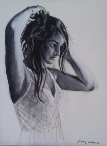 #beauty #woman #study #portrait #artwork #acrylicink