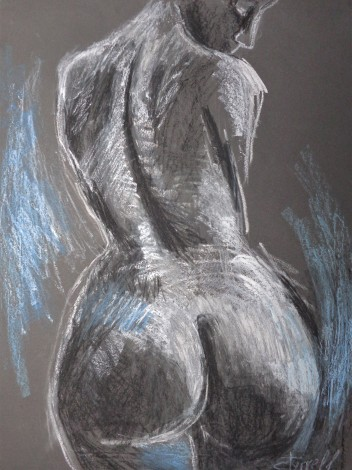 female nude back and buttocks