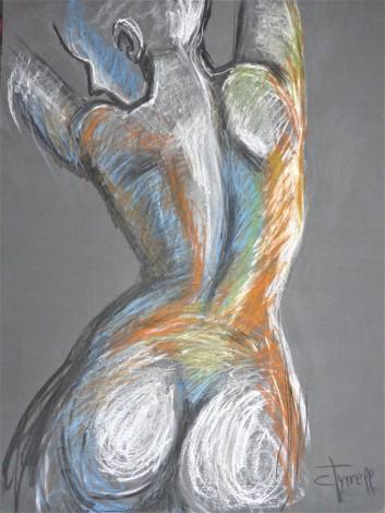 female nude back, buttocks