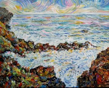 Sea and rocks full veiw