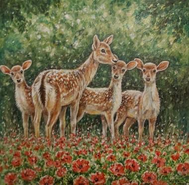 Deers full view
