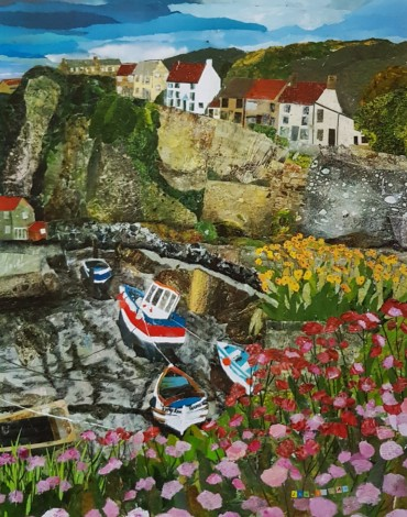staithes beck seascape seasoide whitby painting art cliffs
