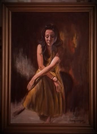#portrait #beautifulwoman #originalart #acrylicpainting  #modelpose#