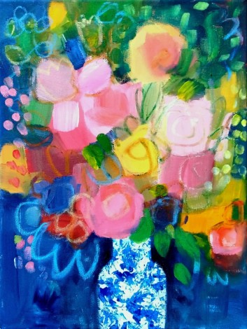 Summer Flowers in a Chinese Vase VIII