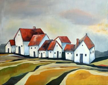 The Smallest Village - oil on canvas