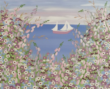 Contemporary meadow flowers painting