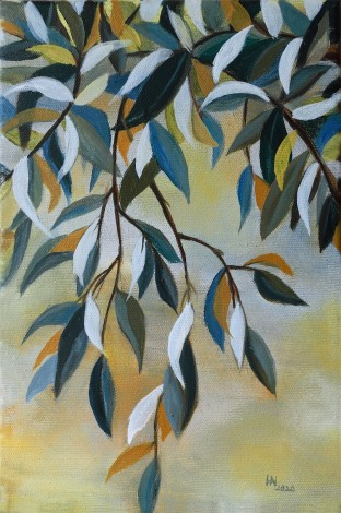 The Broken Oil Branch - oil on canvas