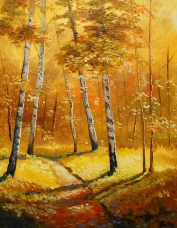 golden autumn woodland