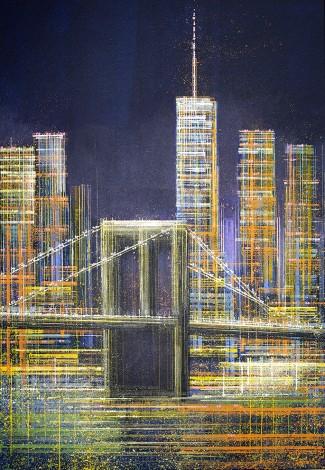 New York - The Brooklyn Bridge At Midnight