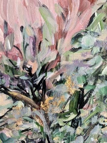 Rich soft colours  Flower art Floral art King Protea art