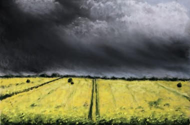 Storm over the Rapeseed by Geraldine Segre