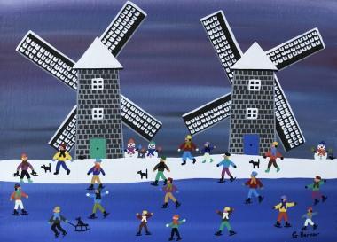 Skating at the windmills