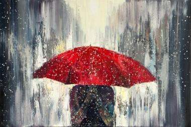 Red Umbrella Rain