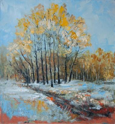 blue, landscape, seasons, spring, winter, autumn, english, british, trees, nature, park, woodlands, forest, snow, leaves